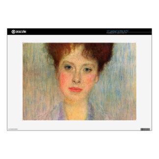 "Portrait of Gertha Fersovanyi (detail) by Klimt 15"" Laptop Skins"