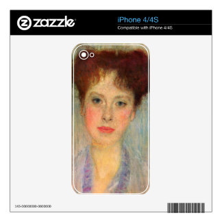 Portrait of Gertha Fersovanyi (detail) by Klimt Decals For The iPhone 4