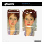 Portrait of Gertha Fersovanyi (detail) by Klimt Decal For HTC Desire S
