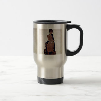 Portrait Of Gertrude Schiele By Schiele Egon Mugs