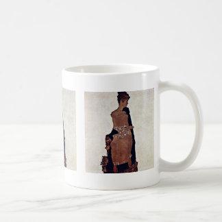 Portrait Of Gertrude Schiele By Schiele Egon Coffee Mug