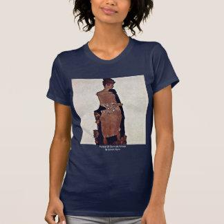Portrait Of Gertrude Schiele By Schiele Egon T Shirt