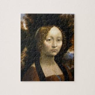 Portrait of Ginevra de Benci by Leonardo da Vinci Jigsaw Puzzle