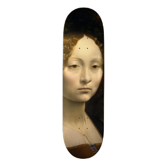 Portrait of Ginevra de Benci by Leonardo da Vinci Skateboard
