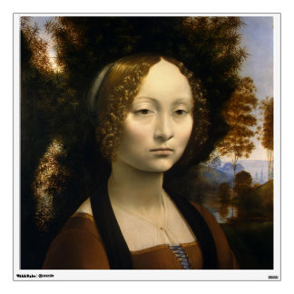Portrait of Ginevra de Benci by Leonardo da Vinci Wall Decal