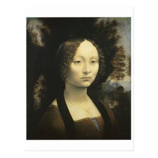 Portrait of Ginevra de Benci circa 1476 Da Vinci Postcard