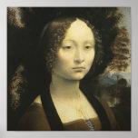 Portrait of Ginevra de Benci circa 1476 Posters