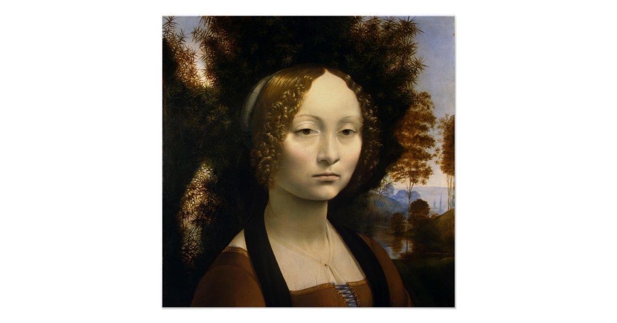 Portrait of Ginevra de Benci Leonardo da Vinci Poster | Zazzle.com