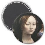 Portrait of Ginevra de Benci Magnets