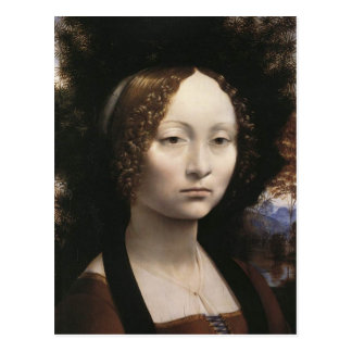 Portrait of Ginevra de Benci Post Card