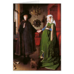 Portrait of Giovanni Arnolfini and his Wife Greeting Card