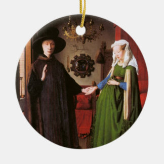 Portrait of Giovanni Arnolfini and his Wife Ceramic Ornament