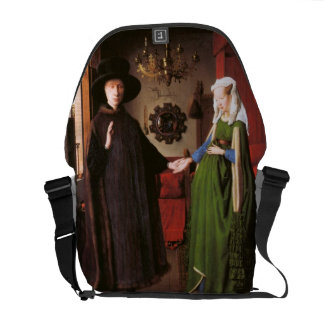 Portrait of Giovanni Arnolfini and his Wife Courier Bag