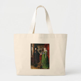 Portrait of Giovanni Arnolfini and His Wife Large Tote Bag