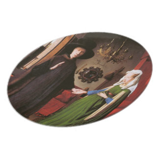 Portrait of Giovanni Arnolfini and his Wife Melamine Plate