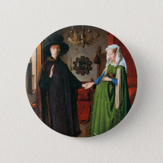 Portrait of Giovanni Arnolfini and His Wife Pinback Button