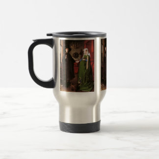 Portrait of Giovanni Arnolfini and his Wife Travel Mug