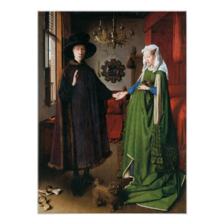Portrait of Giovanni Arnolfini & His Wife, 1434 Poster