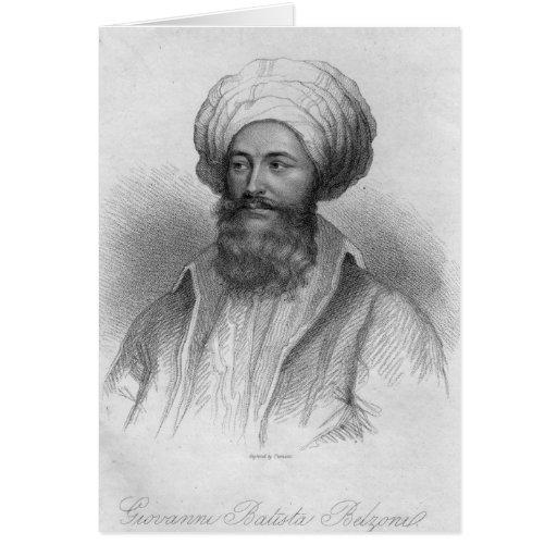 Portrait of Giovanni Batista Belzoni Card