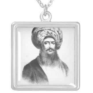 Portrait of Giovanni Battista Belzoni Square Pendant Necklace