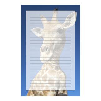Portrait of Giraffe (Giraffa Camelopardalis) Stationery
