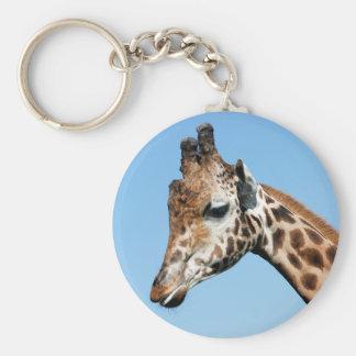 Portrait of giraffe keychain
