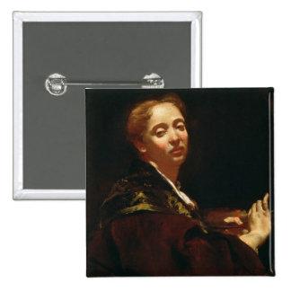 Portrait of Giulia Lama (fl.1728) Pinback Button