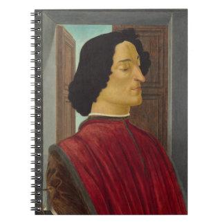 Portrait of Giuliano de Medici by Botticelli Notebook
