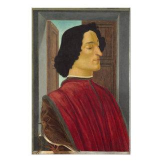 Portrait of Giuliano de Medici by Botticelli Photographic Print