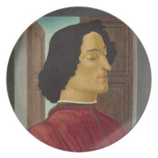 Portrait of Giuliano de Medici by Botticelli Plates