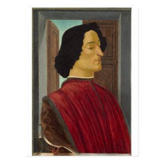Portrait of Giuliano de Medici by Botticelli Postcard