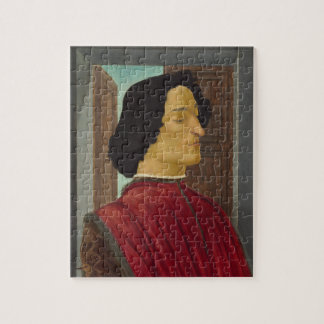 Portrait of Giuliano de Medici by Botticelli Jigsaw Puzzles