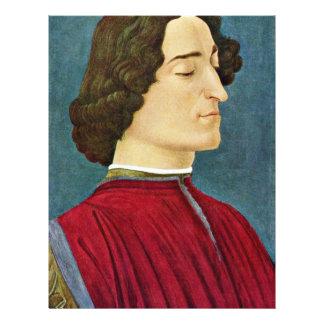 Portrait Of Giuliano De 'Medici By Botticelli Sand Flyer