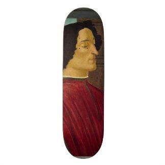 Portrait of Giuliano de Medici by Botticelli Skateboard Deck
