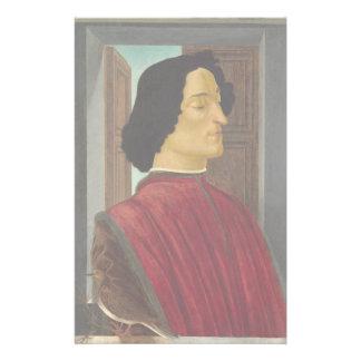 Portrait of Giuliano de Medici by Botticelli Stationery