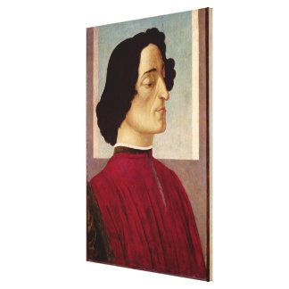 Portrait of Giuliano de' Medici  c.1480 Canvas Print