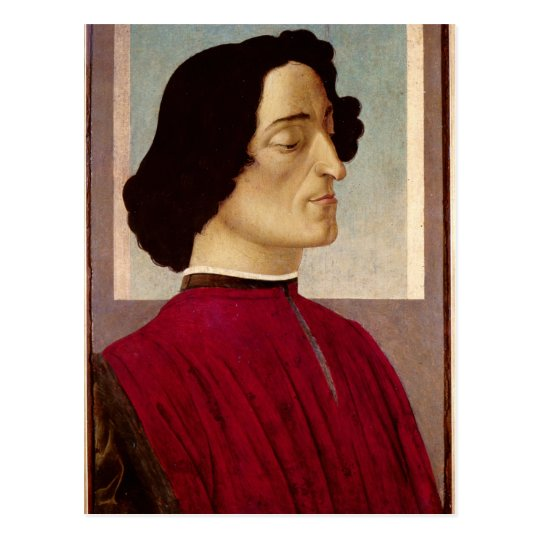 Portrait of Giuliano de' Medici  c.1480 Postcard
