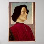 Portrait of Giuliano de' Medici  c.1480 Poster