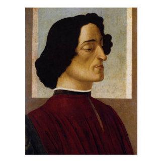 Portrait of Giuliano de Medici Post Card