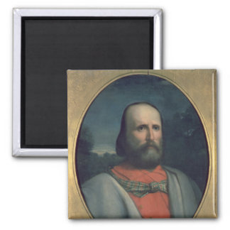 Portrait of Giuseppe Garibaldi 2 2 Inch Square Magnet