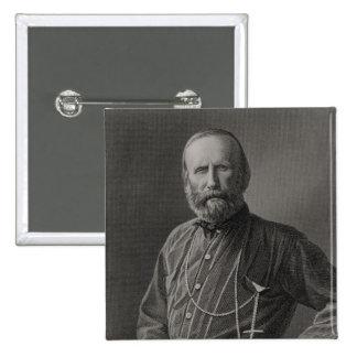 Portrait of Giuseppe Garibaldi 2 Inch Square Button