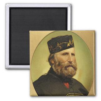 Portrait of Giuseppe Garibaldi 2 Inch Square Magnet
