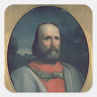 Portrait of Giuseppe Garibaldi 2 Square Sticker