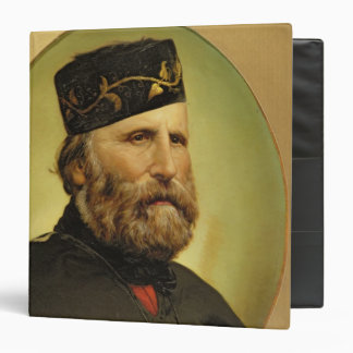 Portrait of Giuseppe Garibaldi 3 Ring Binders