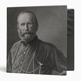 Portrait of Giuseppe Garibaldi 3 Ring Binder