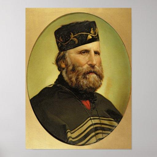 Portrait of Giuseppe Garibaldi Posters