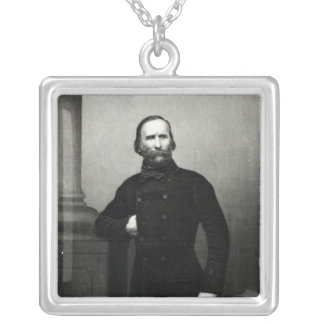 Portrait of Giuseppe Garibaldi Silver Plated Necklace