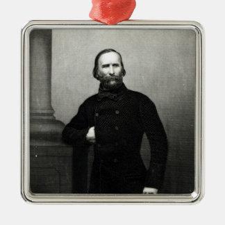 Portrait of Giuseppe Garibaldi Square Metal Christmas Ornament