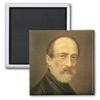 Portrait of Giuseppe Mazzini 2 Inch Square Magnet