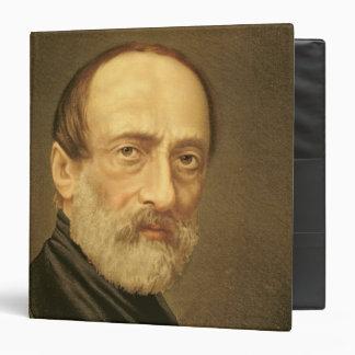 Portrait of Giuseppe Mazzini 3 Ring Binder